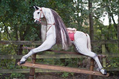 Yorkshire Rocking Horses Traditional Wooden Dapple Grey Horse