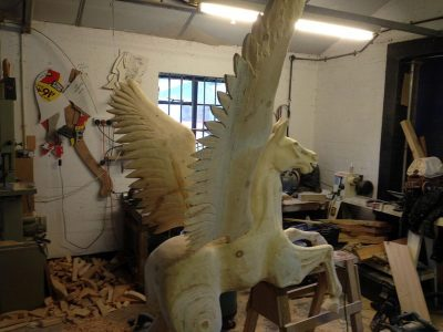 Yorkshire Rocking Horses - Pegasus Is Taking Shape & Life