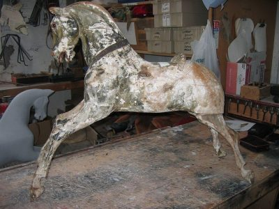 Ayres Rocking Horse Before Restoration by Yorkshire Rocking Horses