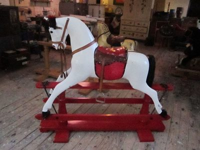 Another Ayres Rocking Horse Before Restoration by Yorkshire Rocking Horses