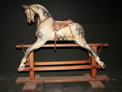 Baby Carriage Horse Before Restoration by Yorkshire Rocking Horses