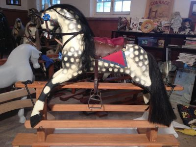 Another Collinson Horse After Restoration by Yorkshire Rocking Horses