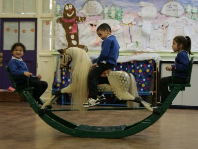 Lines Bow Rocker Horse After Restoration by Yorkshire Rocking Horses