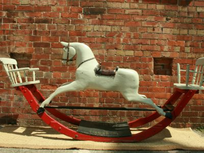 Lines Bow Rocker Horse Before Restoration by Yorkshire Rocking Horses